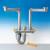 Sifone salvaspazio per lavelli a due vasche