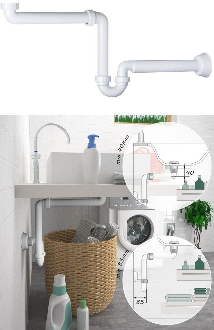 Sifone salvaspazio per mobili bagno commercio for Mobili salvaspazio bagno