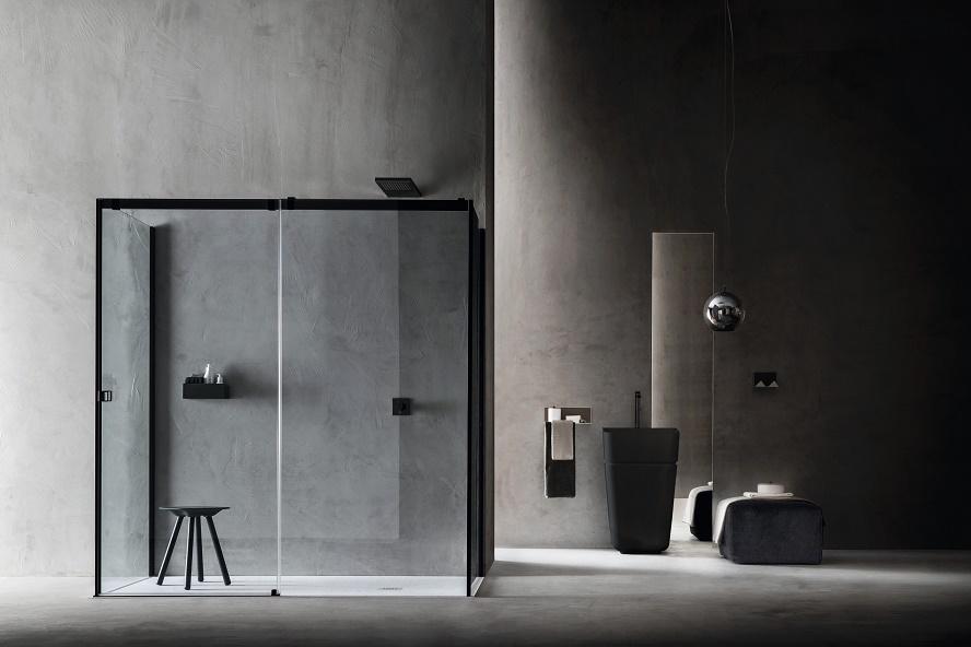 Box doccia otto con meccanismo di rallentamento assistito - Box doccia senza telaio ...