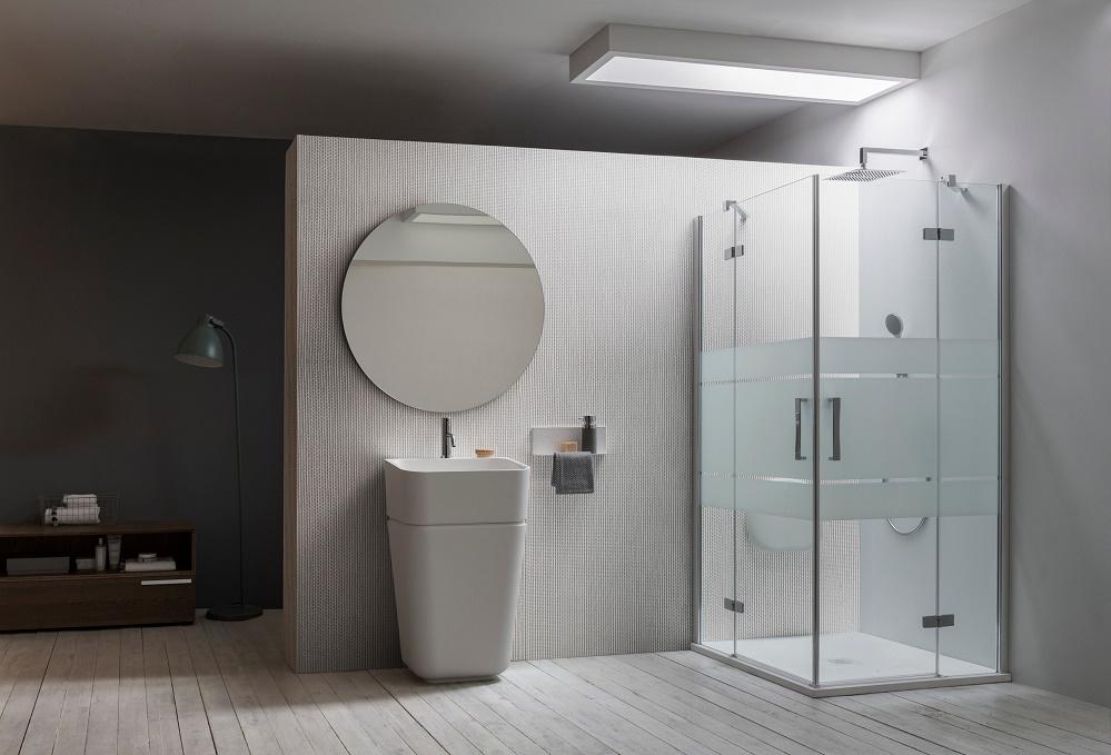 Cabine Doccia Complete : Collezione cabine doccia in cristallo temperato sei new di arblu