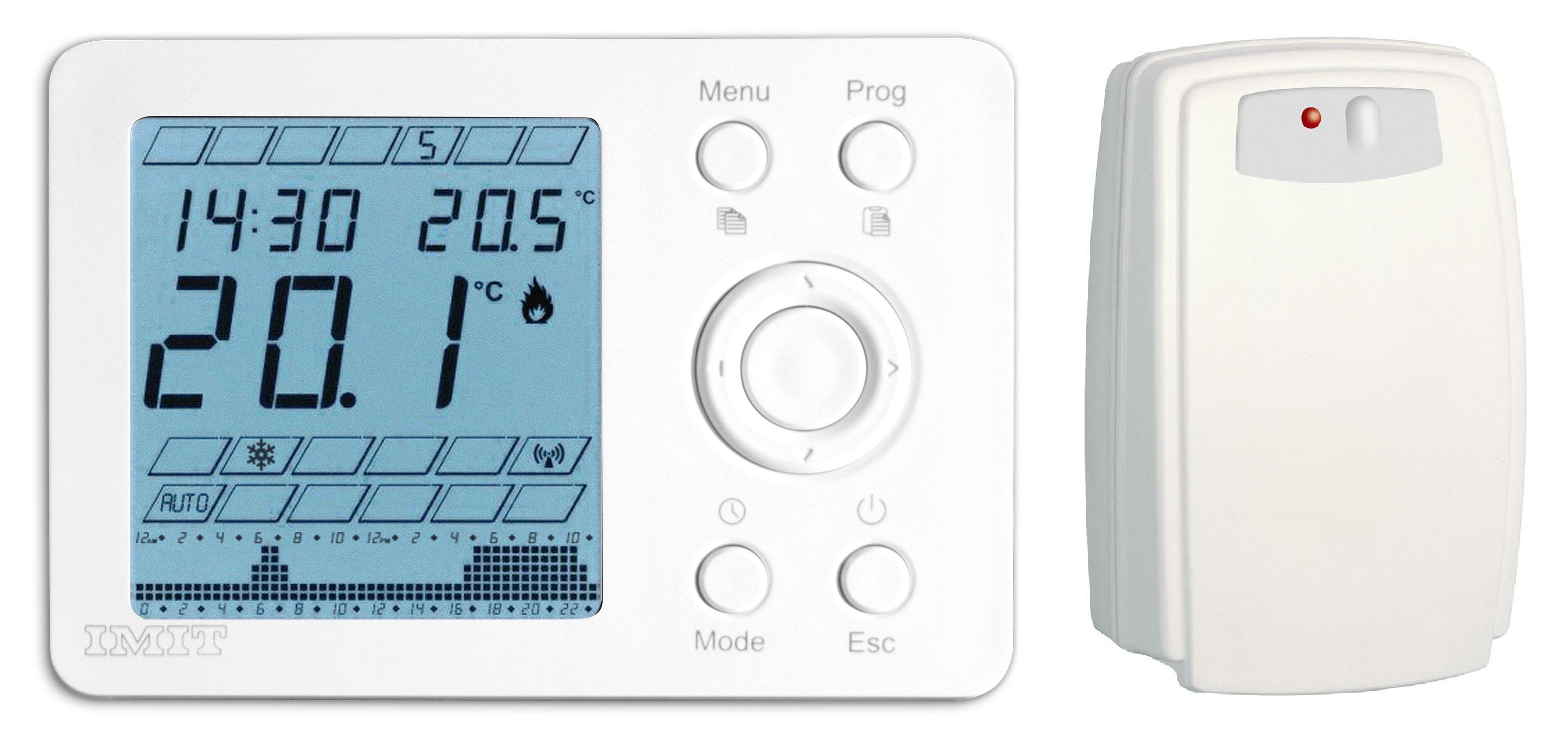 Termostati e cronotermostati wireless con ricevitore radio RF 868 Mhz